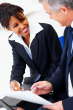 Litigation paralegal assisting attorney
