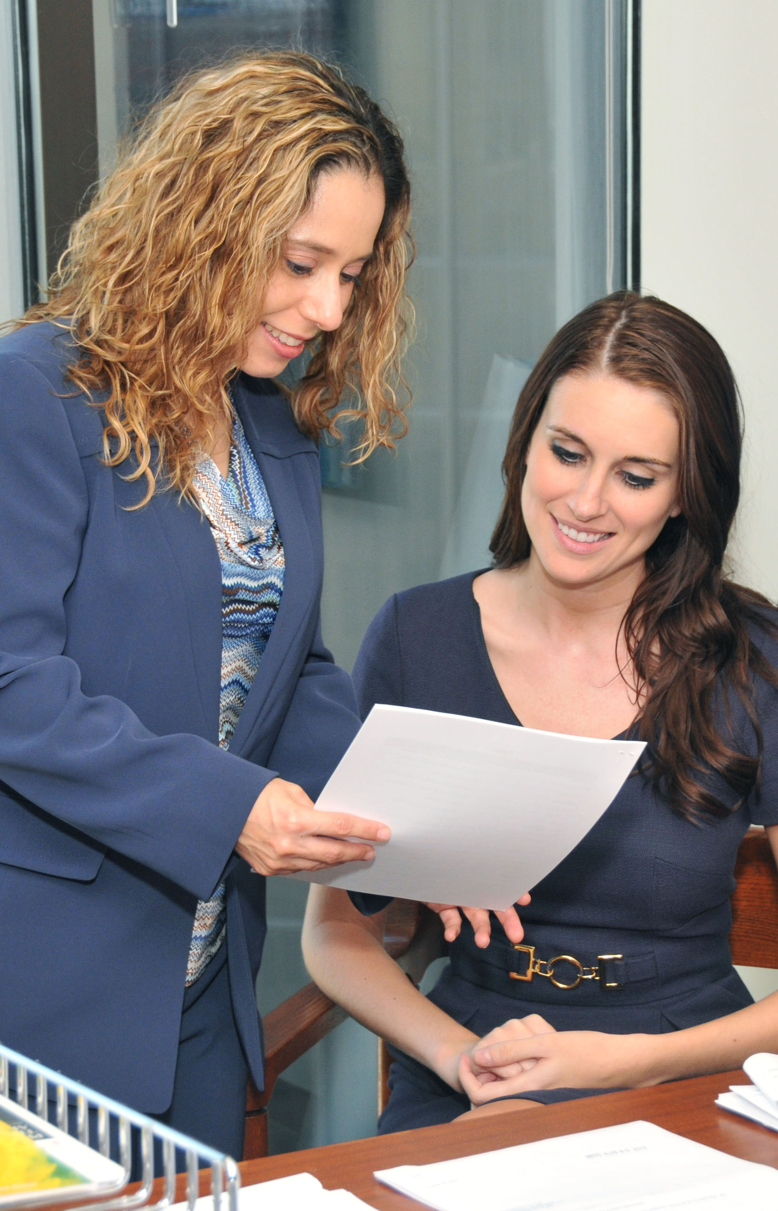 A paralegal extern working with an attorney