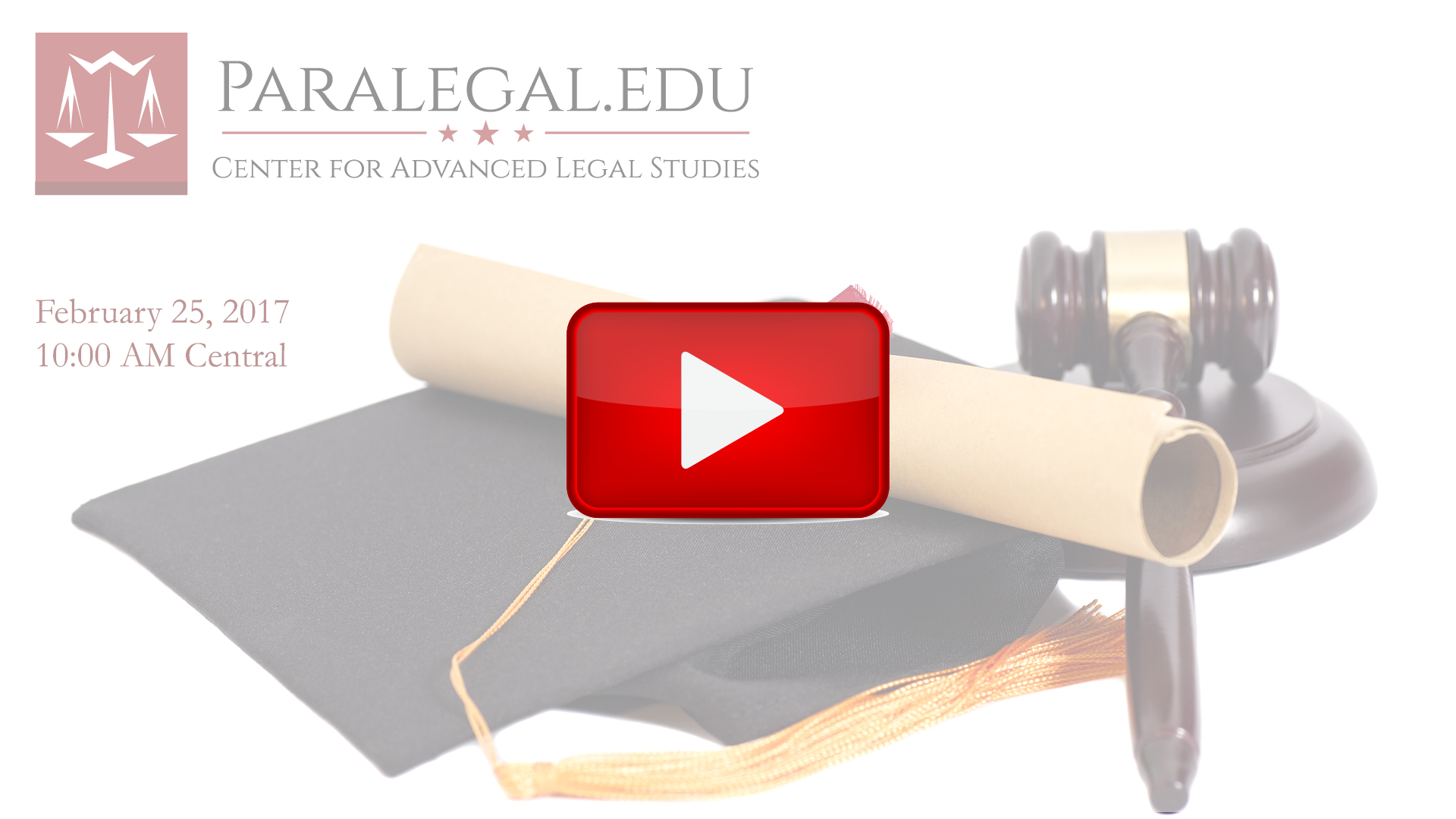 Paralegal Commencement Ceremony Center for Advanced Legal Studies