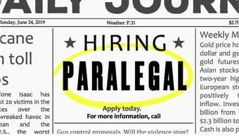 Hiring-Paralegal